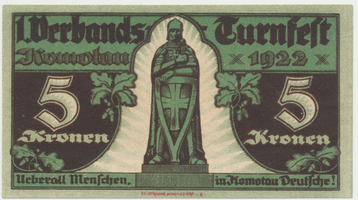 Komotau (Chomutov) - Turnfest, 5 K  1922, HH.106.2.4