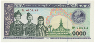 Laos, 1000 Kip 2003, P.32Ab