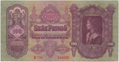 Maďarsko, 100 Pengö 1930, BHK.H10a