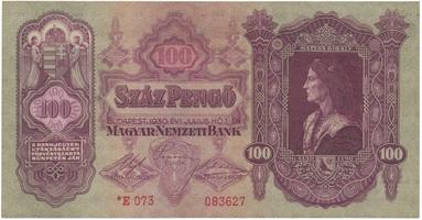 Maďarsko, 100 Pengö 1930, II. vydání s hvězdičkou, BHK.H10b