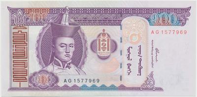 Mongolsko, 100 Tugrik 2000~2008, P.65