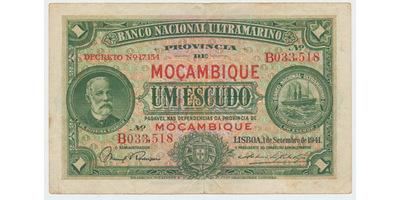 Mosambik, 1 Escudo 1941, P.81