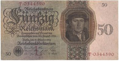 Německo, 50 Reichsmark 1924, BHK.D5
