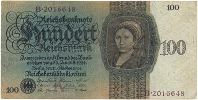 Německo, 100 Reichsmark 1924, BHK.D7