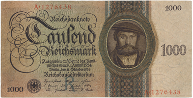Německo, 1000 Reichsmark 1924, BHK.D9