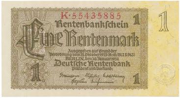 Německo, 1 Rentenmark 1937, říšský číslovač, BHK.D11b