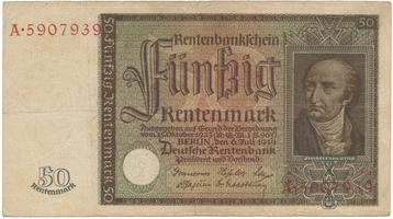 Německo, 50 Rentenmark 1934, BHK.D16