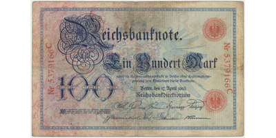 Německo, 100 Mark 1903, Ro.20