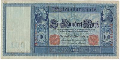 Německo, 100 Mark 1908, Ro.35
