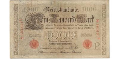 Německo, 1000 Mark 1909, Ro.39