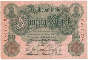 Německo, 50 Mark 1910, Ro.42