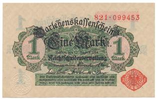 Německo, 1 Mark 1914, 1. vydání, Ro.51b