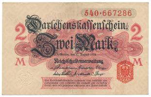 Německo, 2 Mark 1914, 1. vydání, Ro.52b