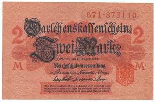 Německo, 2 Mark 1914, 2. vydání, Ro.52c