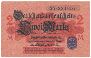 Německo, 2 Mark 1914, 3. vydání, Ro.52d