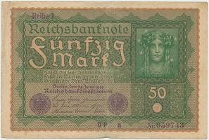 Německo, 50 Mark 1919, Reihe 1, Ro.62a