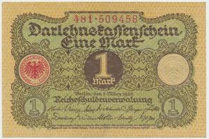 Německo, 1 Mark 1920, Ro.64