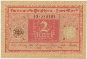 Německo, 2 Mark 1920, Ro.66
