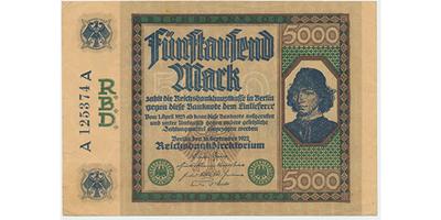 Německo, 5000 Mark 1922, Ro.76