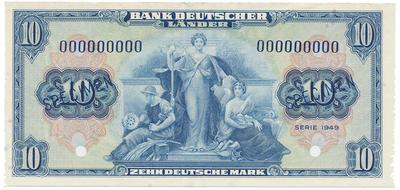 Německo - NSR, 10 DM 1949, ANULÁT - originální vzor ABNCo., Ro.258M1