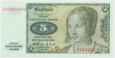 Německo - NSR, 5 DM 1960, Ro.262e