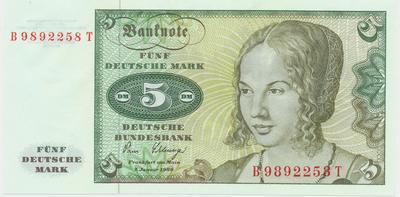 Německo - NSR, 5 DM 1980, Ro.285a