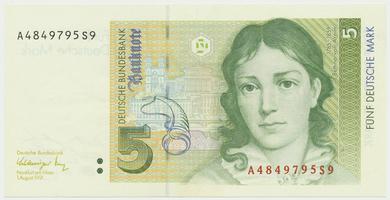 Německo - NSR, 5 DM 1991, Ro.296a