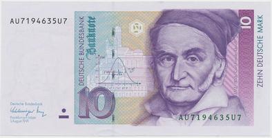 Německo - NSR, 10 DM 1991, Ro.297a