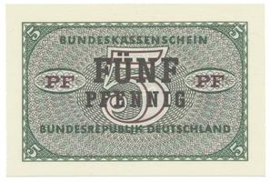 Německo - NSR, 5 Pfennig (1967), Ro.314