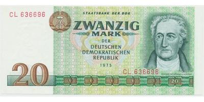 Německo - NDR, 20 DM 1975, Ro.362a