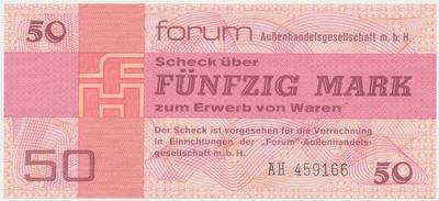 "Německo - NDR, 50 Mark 1979, ""FORUM"" (obdoba Tuzexu), Ro.371a"