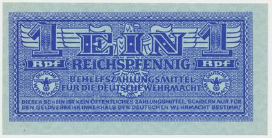 Německo - Wehrmacht, 1 Reichspfennig (1942~1944), Ro.501