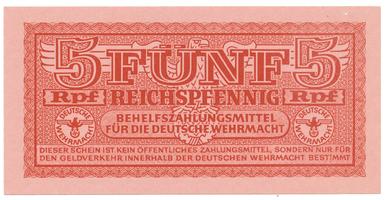 Německo - Wehrmacht, 5 Reichspfennig (1942~1944), Ro.502