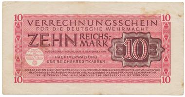 Německo - Wehrmacht, 10 Reichsmark 1944, Ro.513