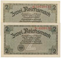 Německo - okupační, 2 Reichsmark (1939~1944), Ro.552a+b   2 ks