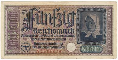 Německo - okupační, 50 Reichsmark (1939~1944), Ro.555a