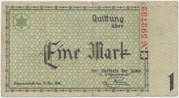 Německo - Litzmannstadt (ghetto), 1 Mark 1940, Grab.Li2b