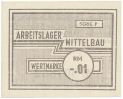 Dora - Mittelbau, 0.01 Reichsmark (1944), Grab.Mi1