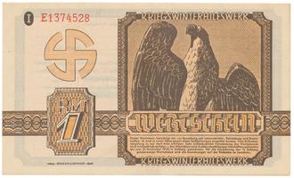 Německo - Winterhilfe, 1 Reichsmark 1939/1940