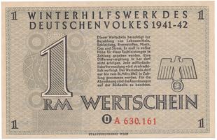 Německo - Winterhilfe, 1 Reichsmark 1941/1942