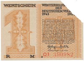 Německo - Winterhilfe, 1 Reichsmark 1943/1944