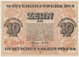 Německo - Winterhilfe, 10 Reichsmark 1943/1944
