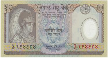 Nepál, 10 Rupees (2002), P.45, pamětní, plastová