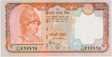 Nepál, 20 Rupees (2002), P.47