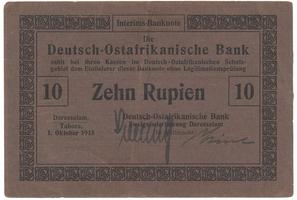 Německá Východní Afrika, 10 Rupien 1. 10. 1915, R.912a