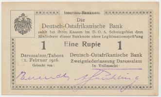 Německá Východní Afrika, 1 Rupie 1. 2. 1916, R.928t
