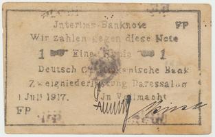 Německá Východní Afrika, 1 Rupie 1. 7. 1917, R.936d