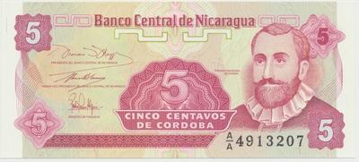 Nikaragua, 5000 Cordobas 1985, P.146