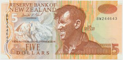 Nový Zéland, 5 Dollars (1992~1997), P.177a