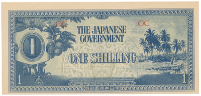 Oceánie, 1 Shilling (1942), P.2